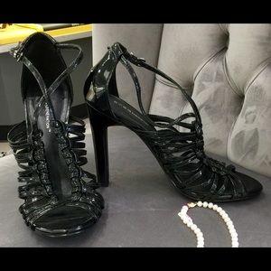 BCB Generation Black Strappy High Heel Sandals Sz8